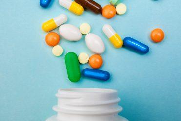 pharmacy pills and bottle