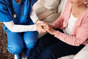 home support worker and resident